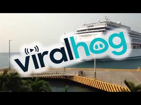 Cruise Ship Smashes into Port || ViralHog