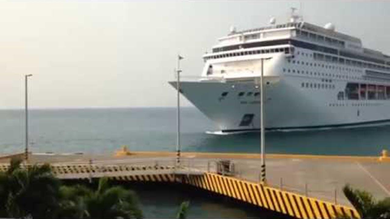 Cruise Ship Smashes Into Port Viralhog