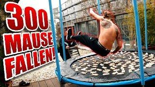 300 Mäusefallen VS. Trampolin !