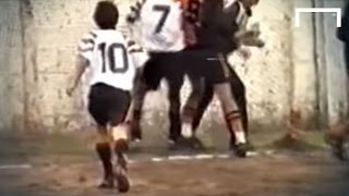 12-year-old Lionel Messi scores a great goal