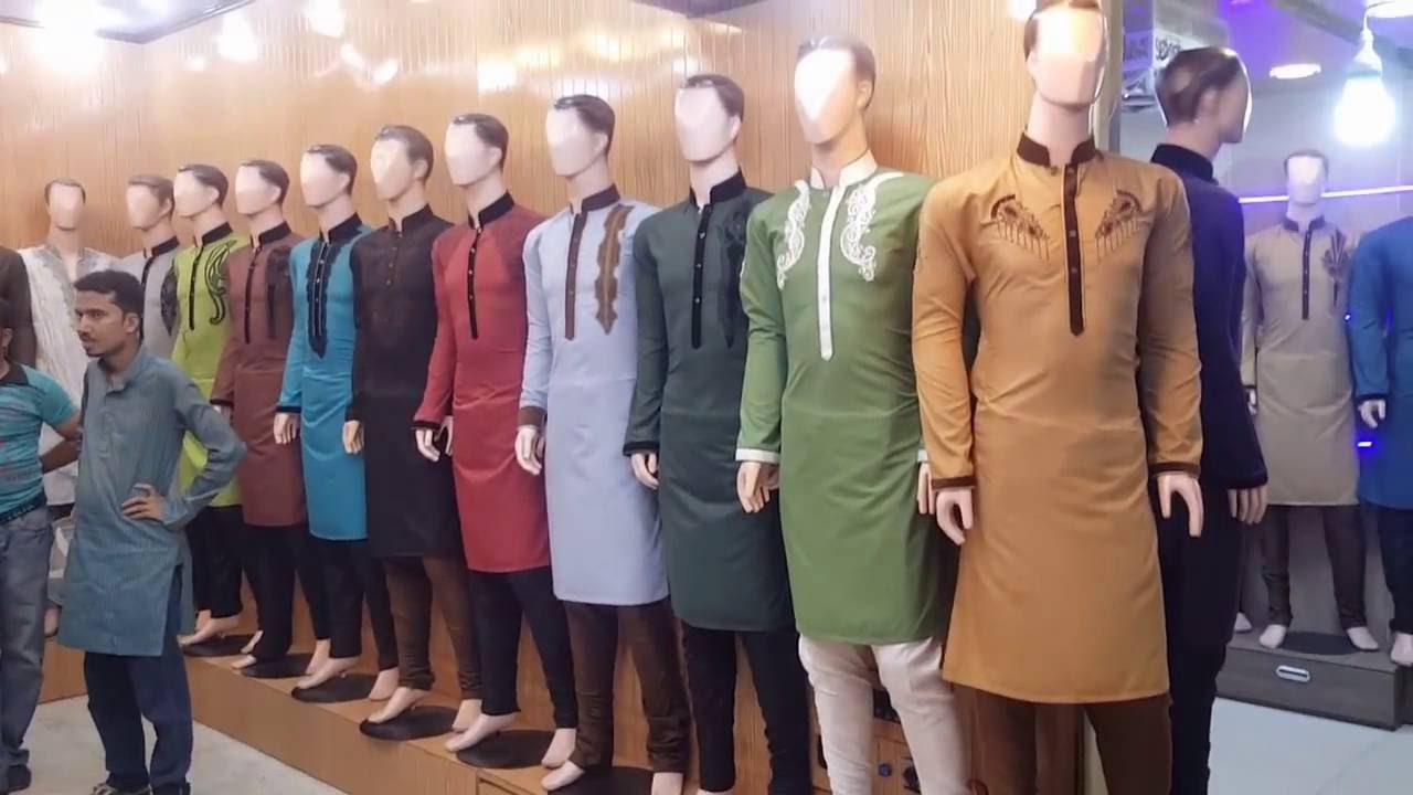 One of the most beautiful men's clothing market KHI Pakistan