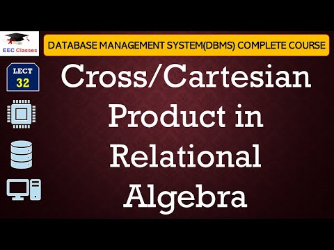 Cross/Cartesian Product in DBMS Relational Algebra with Example in Hindi, English