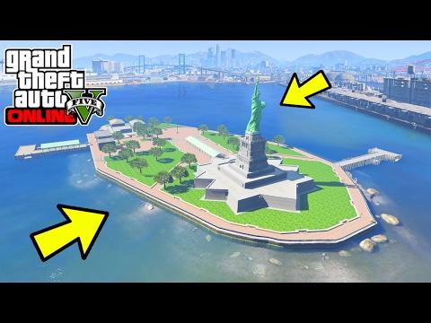 GTA 5 NEW LIBERTY CITY ISLAND MAP EXPANSION MOD IN GTA 5 (GTA 5 New Island Mods)