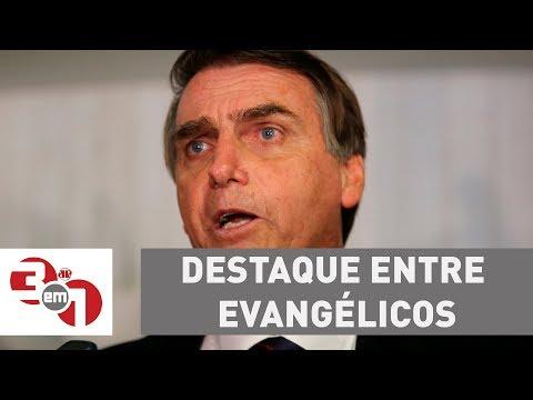 Jair Bolsonaro e Marina Silva se destacam entre evangélicos