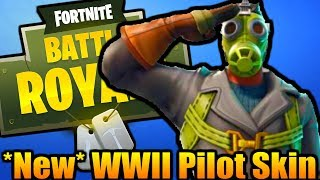 🔴 WWII PILOT SKY STALKER SKIN IS OUT -- TOP PLAYER -- 470+ WINS (Fortnite Battle Royale On Xbox)
