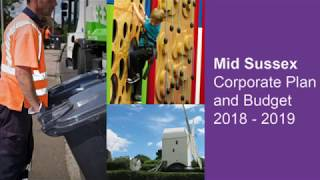 Mid Sussex District Council Leader Garry Wall provides an update on the 2018/19 Corporate Plan an...