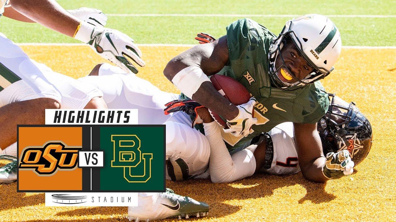Oklahoma State vs  Baylor Football Highlights (2018) | Stadium