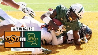 Oklahoma State vs. Baylor Football Highlights (2018) | Stadium