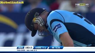 *720p* 38 runs off the over, SCOTT STYRIS 100* off 37 balls HAMMERS JAMES FULLER