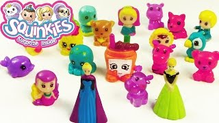 Disney Frozen Mini Queen Elsa Princess Anna SQUINKIES Review Shopkins Pack Opening