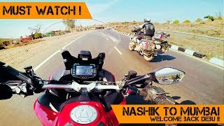 ONE WORLD ONE RIDE Ends | Nashik to MUMBAI with DEBU |  DUCATI MULTISTRADA | Part 1 - The RIDE