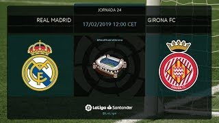 Calentamiento Real Madrid vs Girona FC
