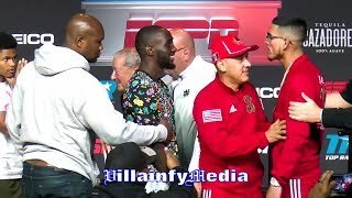 ARUM PLEADS WITH CRAWFORD & BENAVIDEZ PRIOR TO FACE OFF