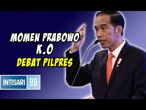 Detik Detik Jokowi Meng K.O Prabowo Dalam Debat Pilpres 2019