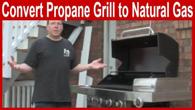 How To Convert A Propane Grill To Natural Gas Youtube