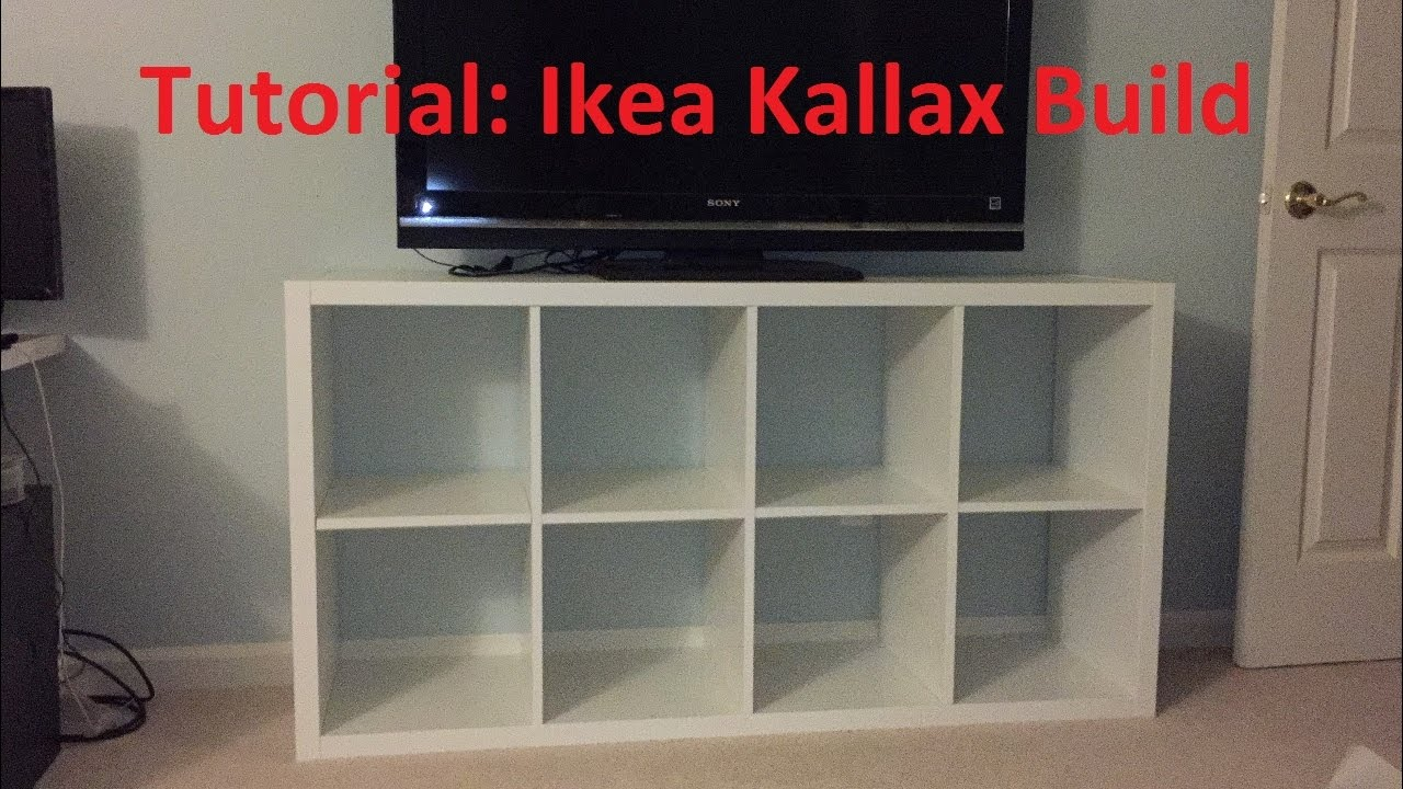 tutorial: ikea kallax/expedit build - youtube