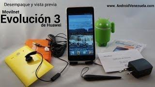 Desempaque y Vista Previa del Huawei Evolución 3 (Español)