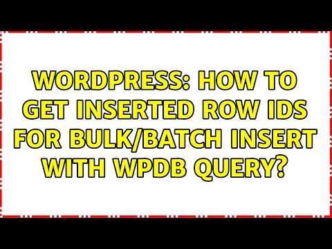WordPress last inserted row id