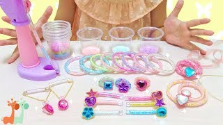 カラフル ビーズアクセサリー チューブレット DIY玩具 / Colorful Beads Jewelry Making Kit , Tubelet thumbnail