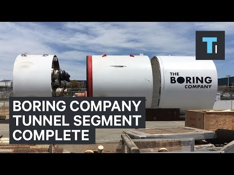 Elon Musk says the first Boring Company tunnel segment is complete