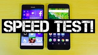 Microsoft Lumia 950 XL vs Google Nexus 6P - Speed Test!