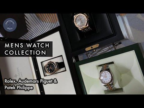 Men's Watch Collection: Rolex Datejust, Audemars Piguet Royal Oak & Patek Philippe Moonphase