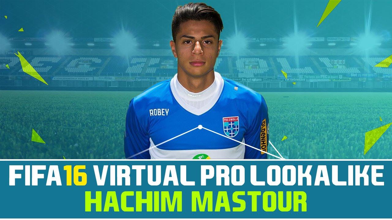 Fifa 16 Virtual Pro Lookalike Tutorial Hachim Mastour Youtube