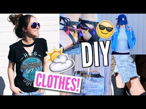 DIY Summer Clothes 2017! | DIY Clothing Hacks On A Budget!