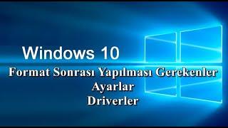 Windows 10 Format Sonrası Yüklenecek Programlar ve Yapılacak İşlemler Driver Yükleme Masaüstü Simge