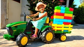 Esma play with new toy tractor for kids video
