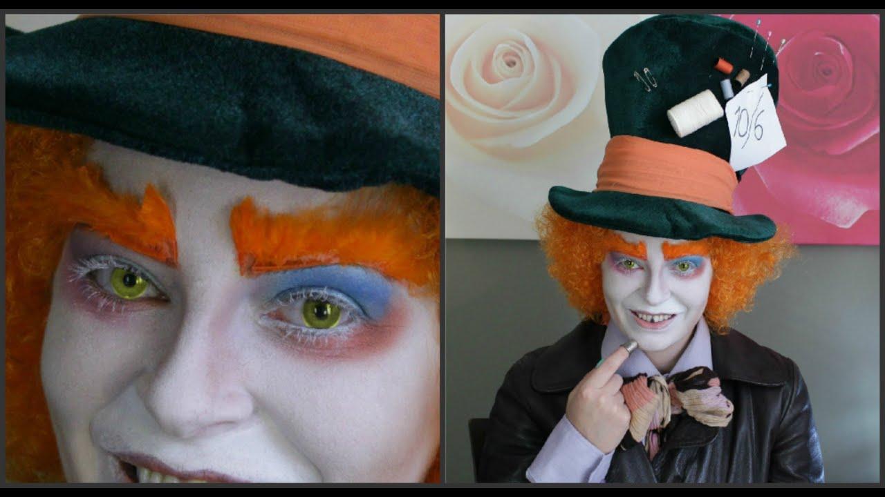 MAQUILLAJE del SOMBRERERO LOCO😺(FÁCIL)🎩  Mad Hatter makeup - YouTube 2cbf315e574