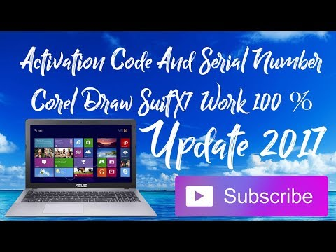 Activation Code And Serial Number Corel Draw SuitX7 Work 100%