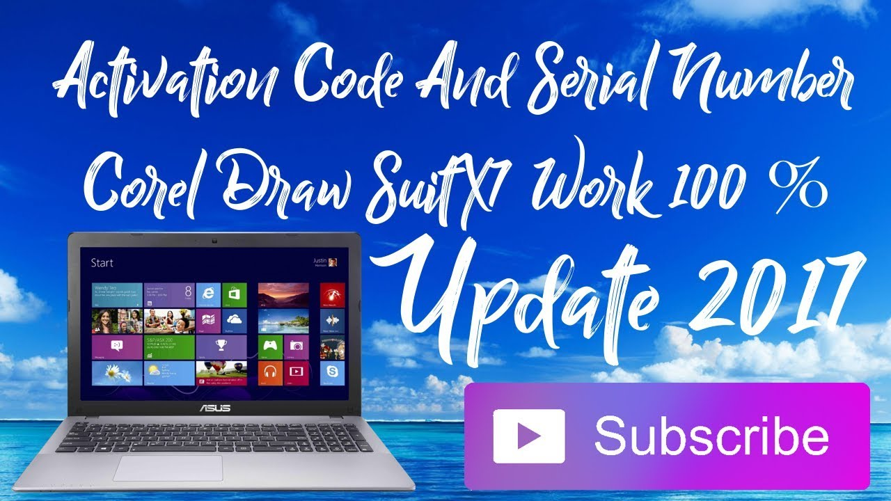 Activation Code And Serial Number Corel Draw Suitx7 8 Work 100