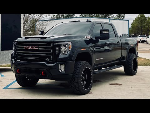 """Fitting my HUGE new set of 35"""" Tires & 22"""" Wheels on My 2020 AT4 Duramax!"""