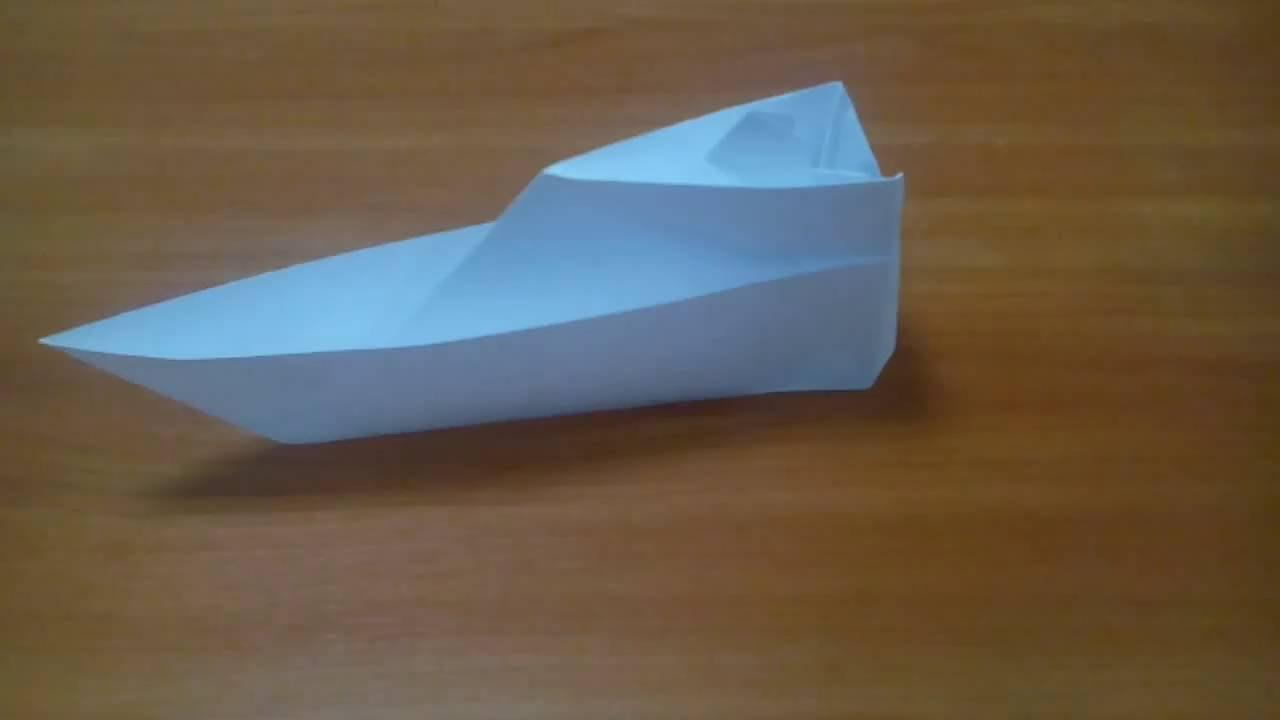 бумажная лодка видео