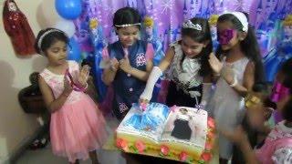Anishka's 7th Cinderella Birthday cake cutting