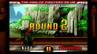 The King of Fighters `98 Ultimate Match Final Edition - Steam Netcode Tests [720p/60fps]