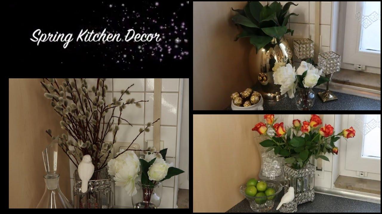 elegant spring kitchen vignettes 🌺✨spring glam home decor - youtube