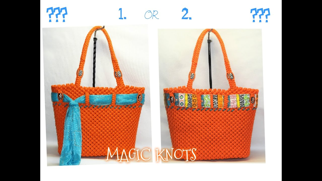 New Unique Macrame Bag Design Youtube