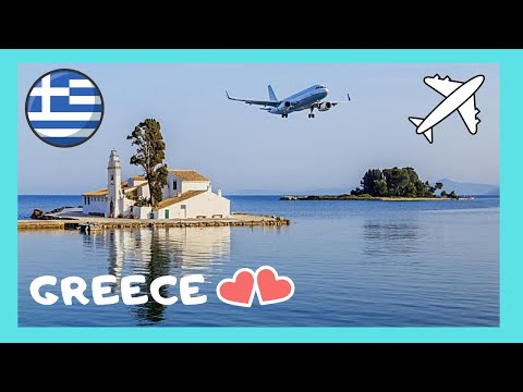 GREECE: REAL LOW LANDINGS at the INTERNATIONAL AIRPORT in CORFU (ΚΕΡΚΥΡΑ)