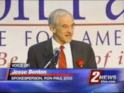 Ron Paul supporters in Nevada KTVN Channel2 2007.11.26