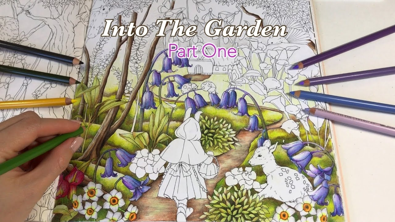 Into The Garden Part 1 Tree and Flowers Coloring