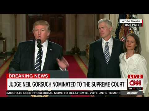 President Trump and Neil Gorsuch on Nomination to SCOTUS