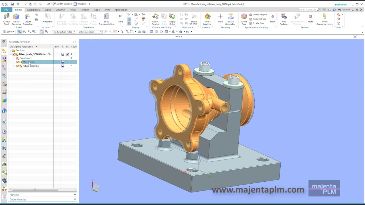 Siemens NX 11 Manufacturing - CAD for CAM - FREE 30 Day Trial  www majentaplm com