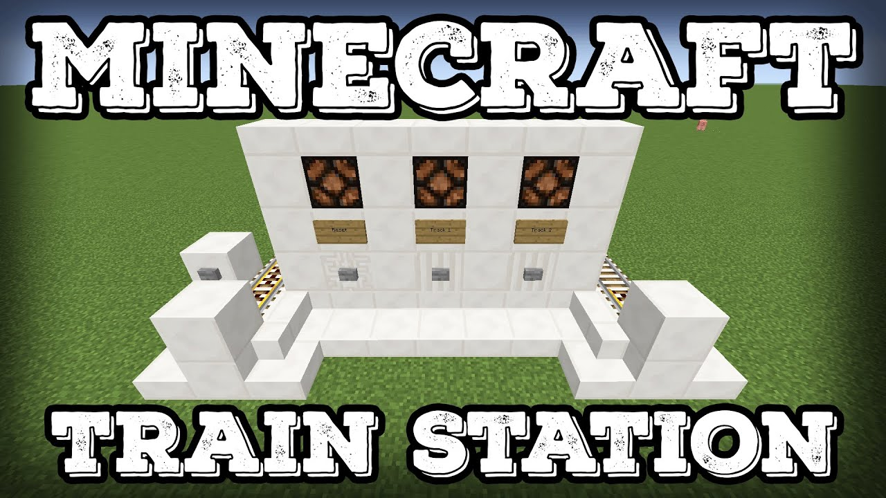 how to build a minecart station in minecraft
