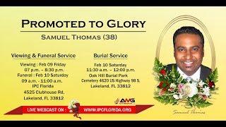 Samuel Thomas (38) |  Funeral Service