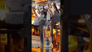 원적외선램프 전구와 스탬조립