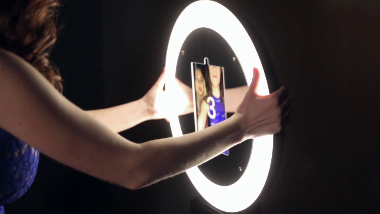 Fits iPads//Tablets DIY Photobooth iPad Photo Booth with Ring Light w// Dimmer
