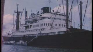 Life on board passenger ship Straat Banka 1964