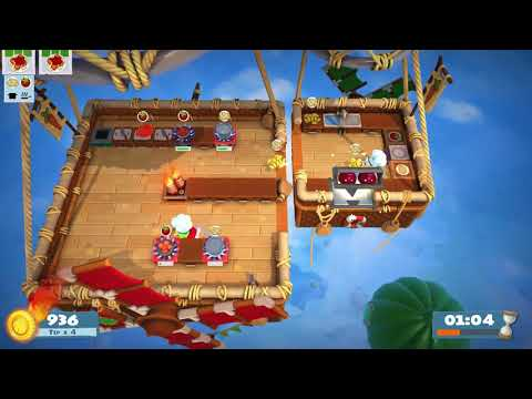 [Overcooked 2: Level 1-5] 2-Player World Record Score: 1440